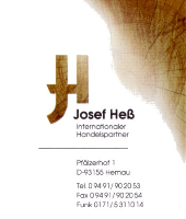 Josef Heß Internationaler Handelspartner