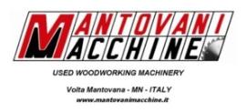 MANTOVANI MACCHINE SRL Used woodworking machinery dealers - Second-hand machines
