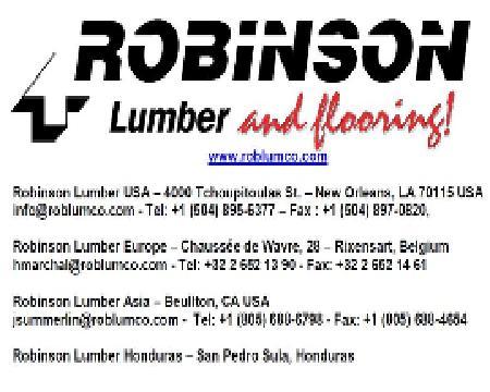 Robinson Lumber Company, Europe