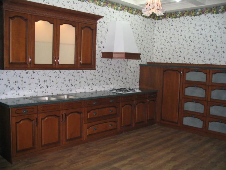 Venta gabinetes de cocina tradicional madera s lida for Gabinetes de madera para cocina