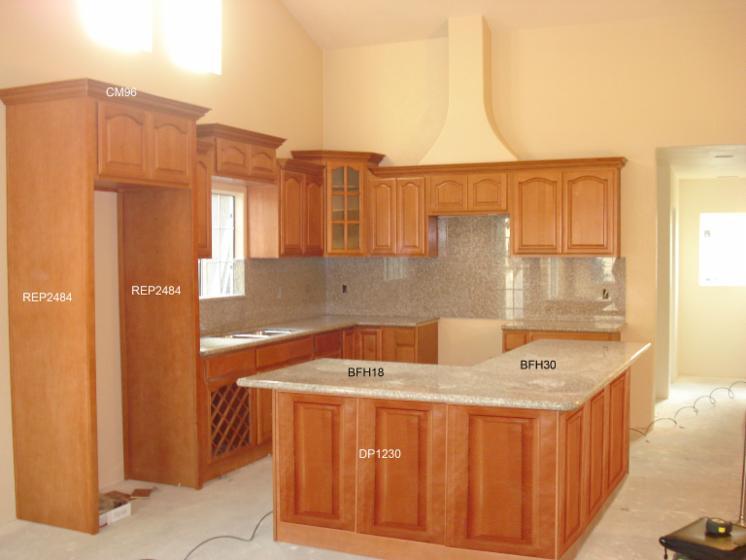 Venta gabinetes de cocina tradicional madera s lida for Gabinetes de madera para cocina pequena