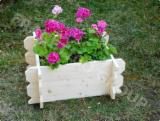 Spruce  - Whitewood Flower Pot - Planter from Romania