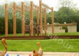 家具及花园产品 - 云杉-白色木材, 棚架-凉棚