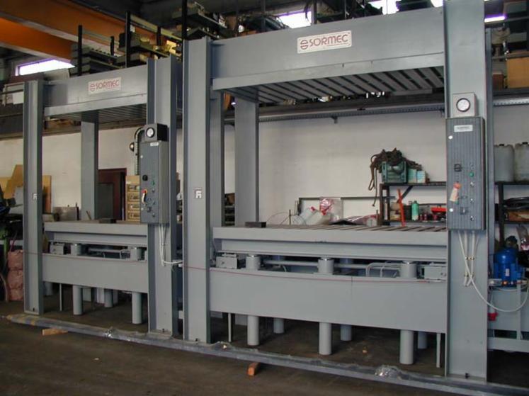 Used sormec t 130 f laminated wood press for sale italy for Laminated wood for sale