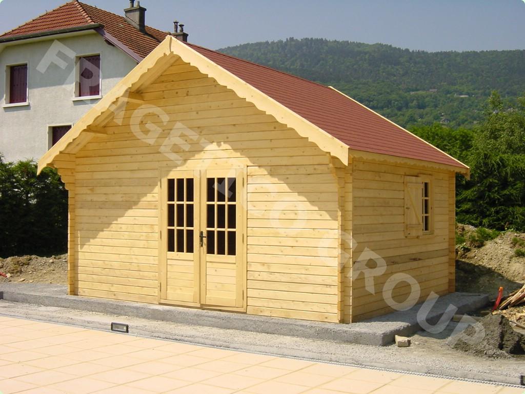 度假木屋, 云杉-白色木材