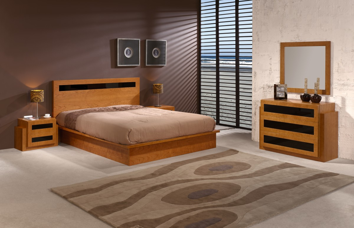 Chambre with chambre coucher moderne for Modele de chambre a coucher simple