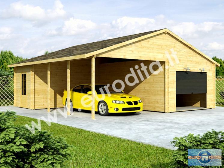 Carport En Garage : Carport garage fichte