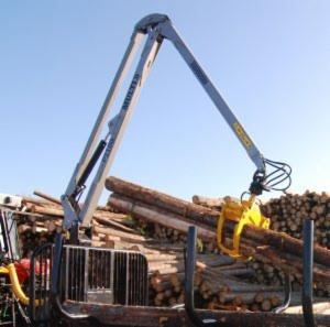 Accessories for harvesting machines, Accessory crane