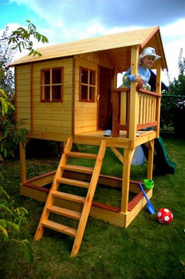 Caba a para ni os abeto madera blanca for Cabanas infantiles en madera