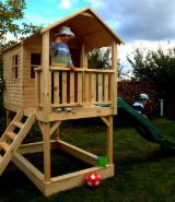 Wood Houses - Precut Timber Framing - Children Play House, Spruce (Picea abies) - Whitewood