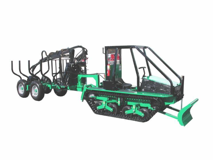 tracteur forestier chenille