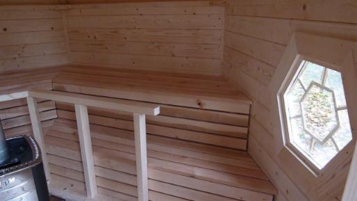 nordische saunakota typ nh 9 2 komplett mit harvia holzfeuerung. Black Bedroom Furniture Sets. Home Design Ideas