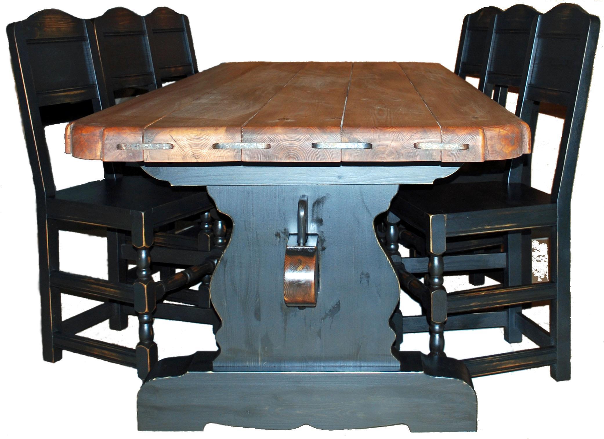 Ensemble table et chaises pour salle manger rustique campagne 1 0 10 0 - Ensemble table chaise salle a manger ...