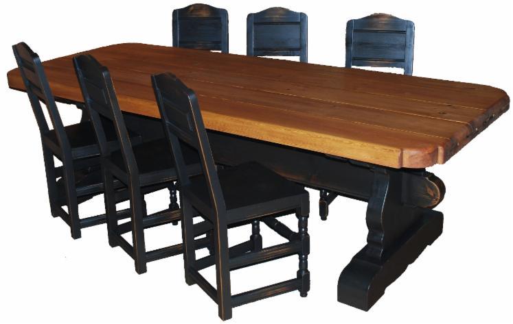Ensemble table et chaises pour salle manger rustique for Ensemble table et chaises salle a manger