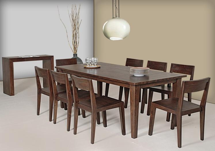 Vendo set sala da pranzo contemporaneo legno tropicale for Sala da pranzo stile contemporaneo