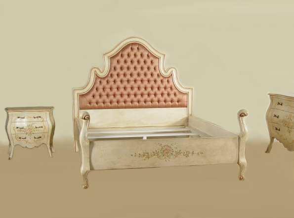 Letto stile rococ veneziano modello prodotto su misura - Camera da letto in stile veneziano ...