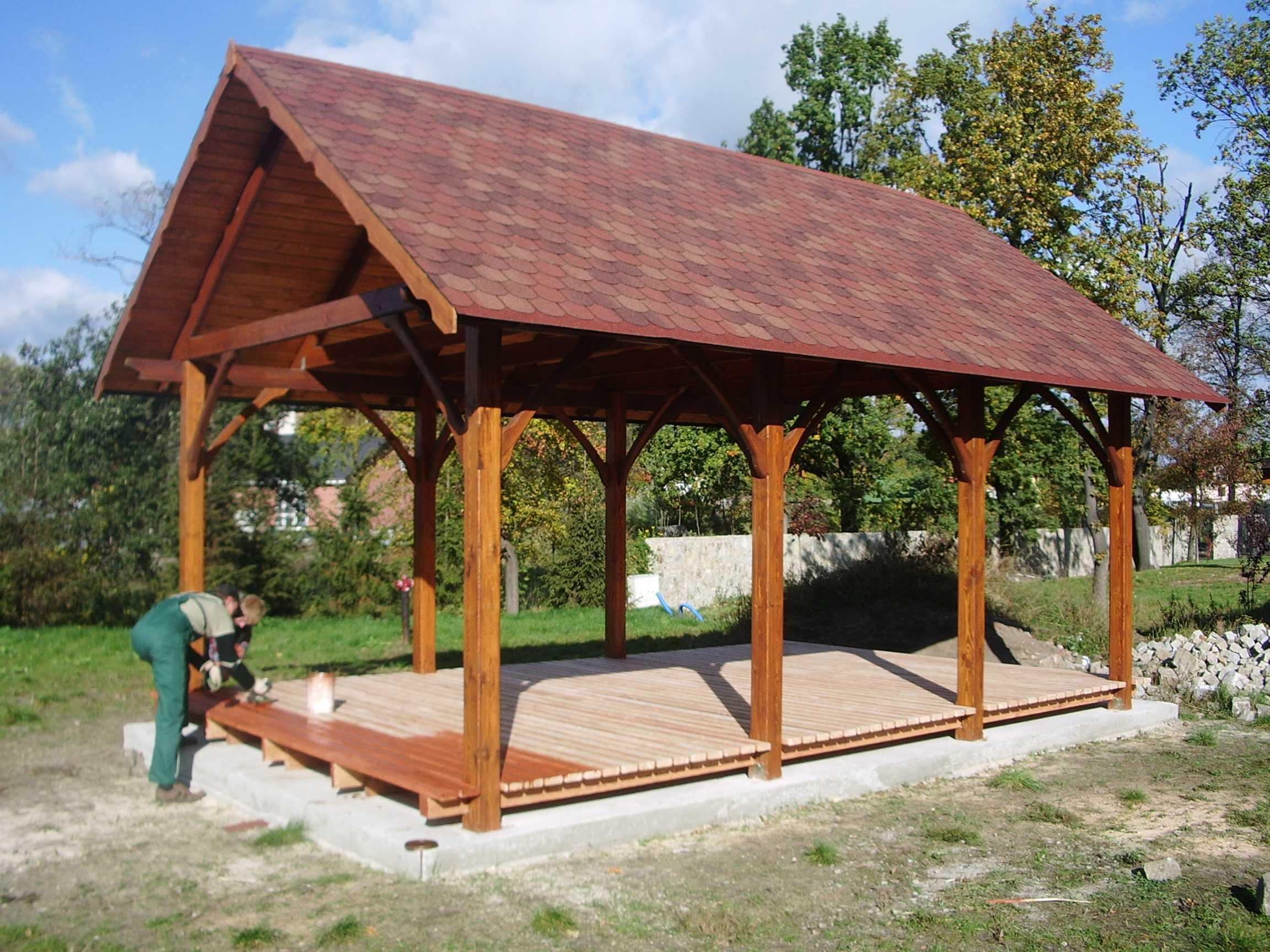Log carport for Garage bois kit