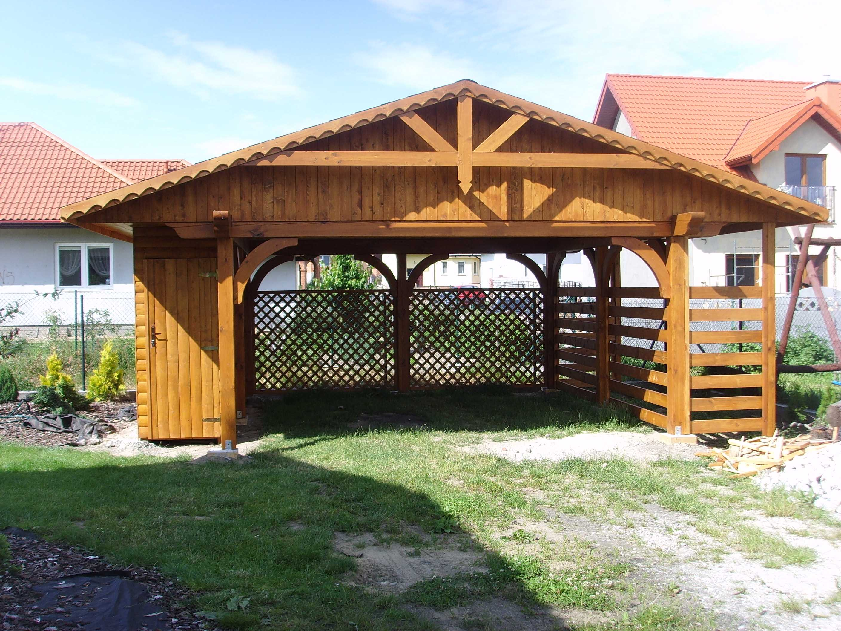 Carport With Shed