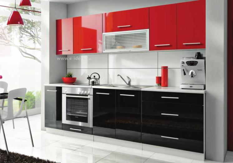 Les meubles de cuisine mdf haute brillance design for Cuisine moderne design simple