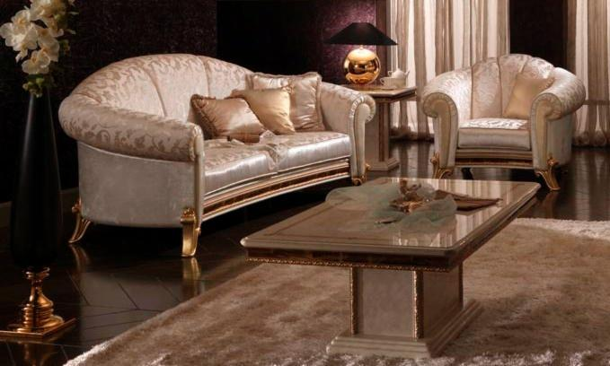 salotto di design in stile classico raffaello. Black Bedroom Furniture Sets. Home Design Ideas