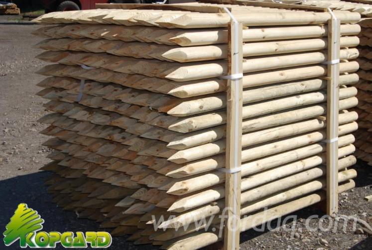 Rondin demi rondin bois ronds palissade 4cm - Tuteur bois brico depot ...