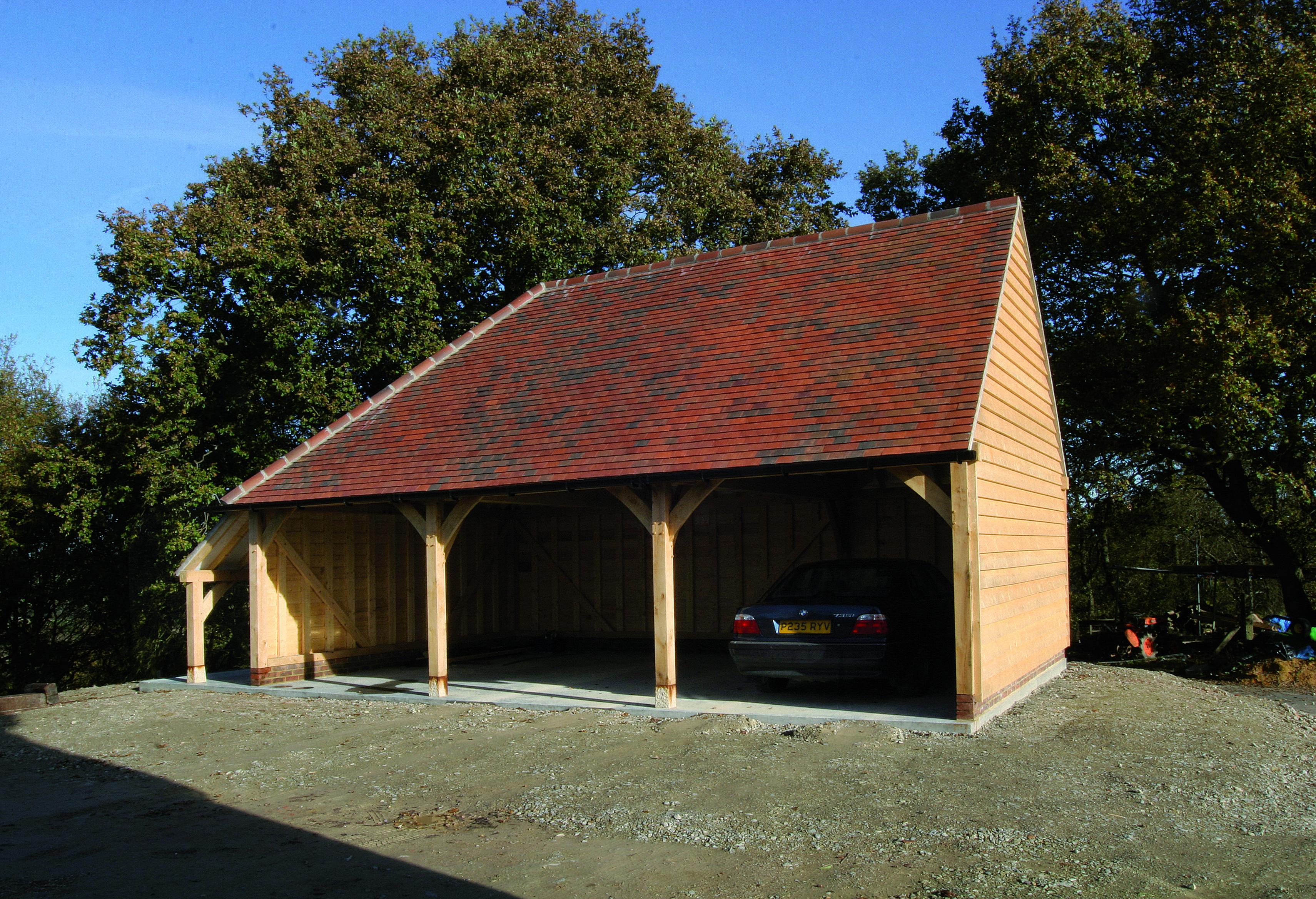 Ready To Assemble Kit Oak Framed Garages