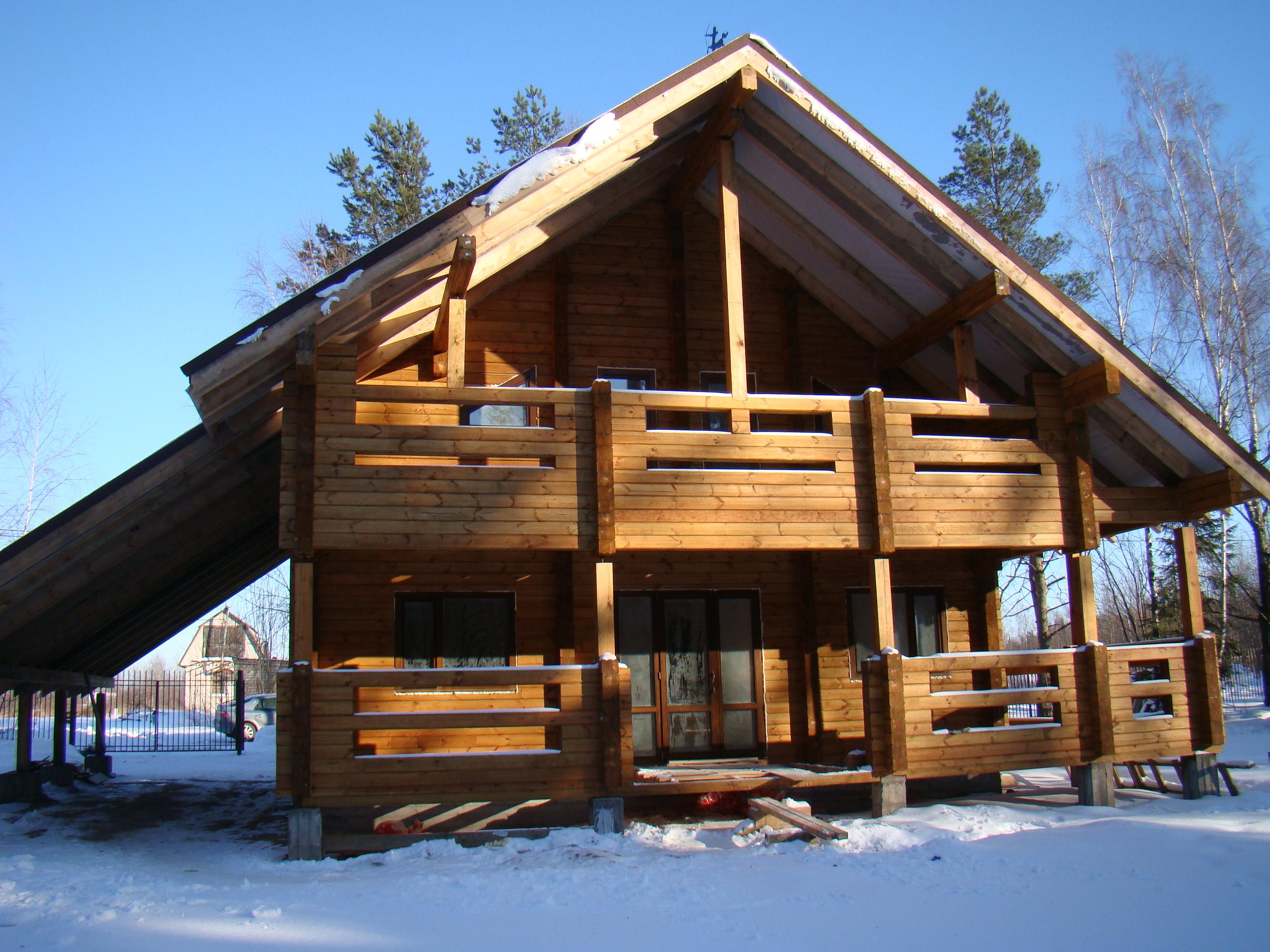 Деревянные дома из клееного бруса ель