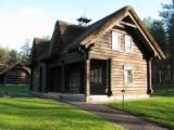 Maisons Bois Lithuanie - Vend Fuste - Maisons En Rondins Empilés Pin  - Bois Rouge Résineux Européens