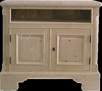 TV Stands Traditional Spruce (Picea Abies) Entertainment centers