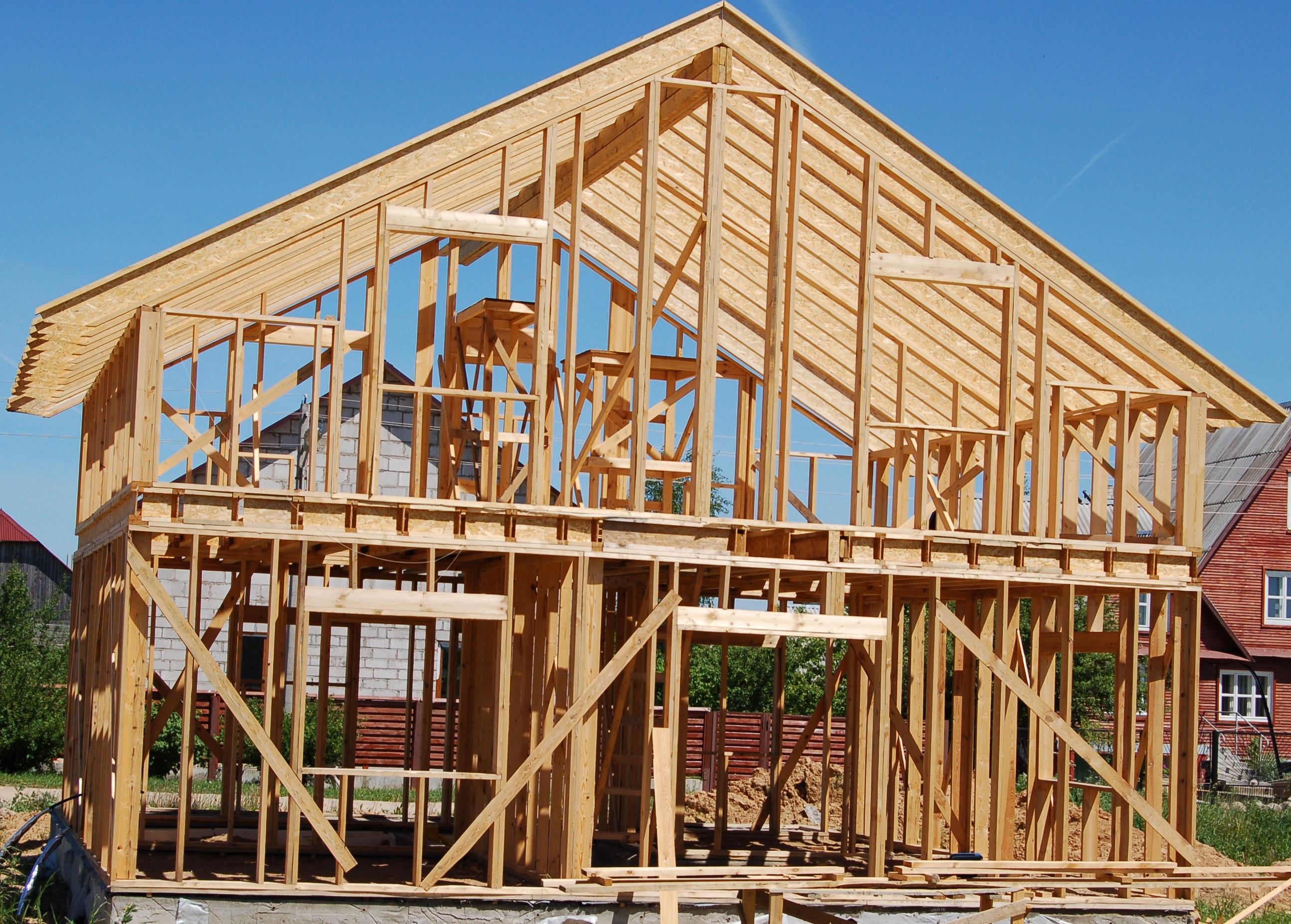 Casa con struttura in legno