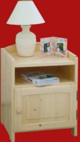 Bedside Table Bedroom Furniture - Traditional Spruce (Picea Abies) - Whitewood Bedside Table Harghita Romania