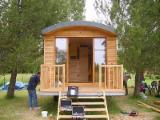 Wood Houses - Precut Timber Framing Spruce Picea Abies - Spruce Shed Trailer
