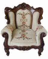 Romania Living Room Furniture - Traditional Oak Armchairs Satu Mare Romania
