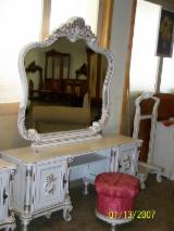 White Bedroom Furniture - dresser with mirror
