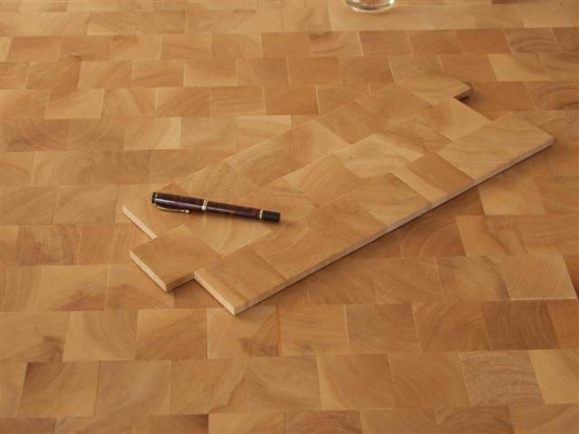 plancher en bois de bout