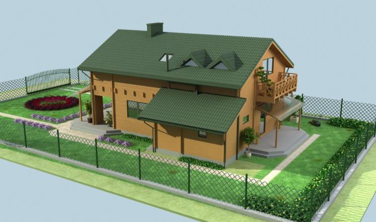 Casa di tronchi squadrati abete for Case di tronchi ranch