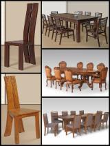 Indonésie provisions - Vend Ensemble Table Et Chaises Pour Salle À Manger Design Feuillus Africains Teak Jepara, Central Java