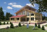 Wood Houses - Precut Timber Framing Pine Pinus Sylvestris - Redwood For Sale - Laminated timber home