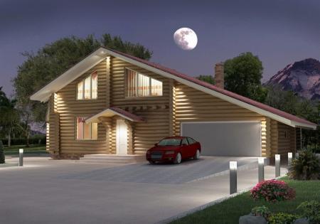 blockhaus aus rundbalken. Black Bedroom Furniture Sets. Home Design Ideas