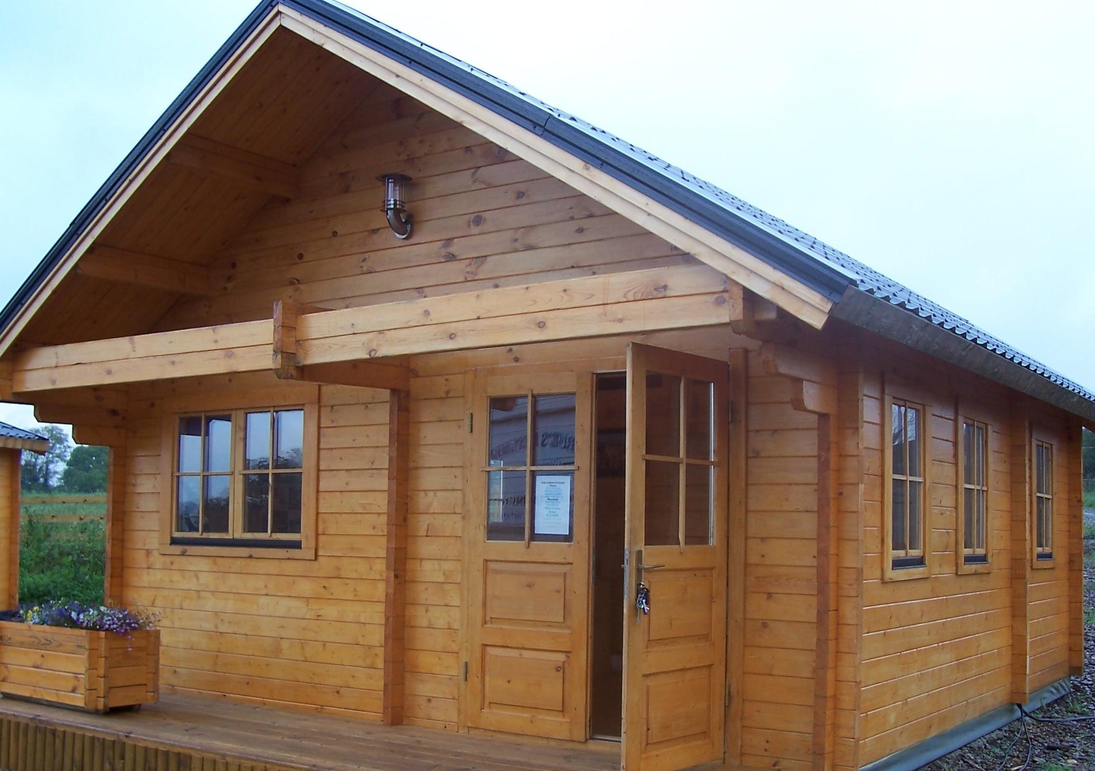 木头房子简笔画