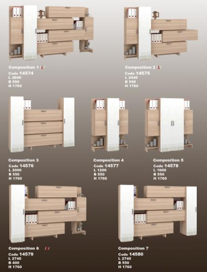 Office room sets, Design