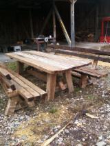 Tainted Wood Garden Furniture - Traditional Oak PERIAT Garden Sets Romania