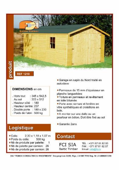 Wooden-garage