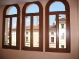 Двері, Вікна, Сходи CE - Європейська Хвойна Деревина, Вікна, Ялина  - Біла, CE