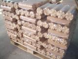 Firewood, Pellets And Residues Pine Pinus Sylvestris - Scots Pine - 90mm round briquettes