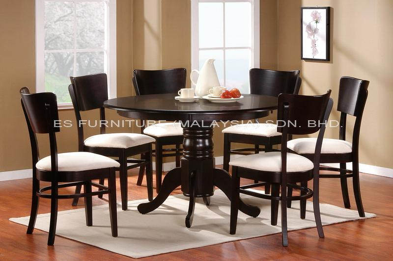 ensemble table ronde et chaise salle a manger. Black Bedroom Furniture Sets. Home Design Ideas