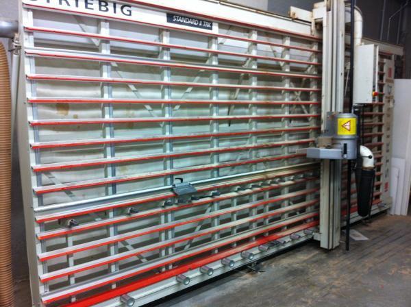Sezionatrice verticale per pannelli striebig standard ii for Opzioni di rivestimenti verticali