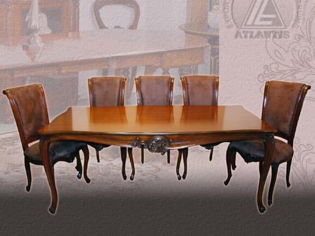 Ensemble table et chaises pour salle manger antique reproduction 1 0 2 - Chaises pour table a manger ...