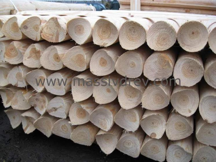 cylindrical trimmed round wood, Pine (Pinus sylvestris)   Redwood