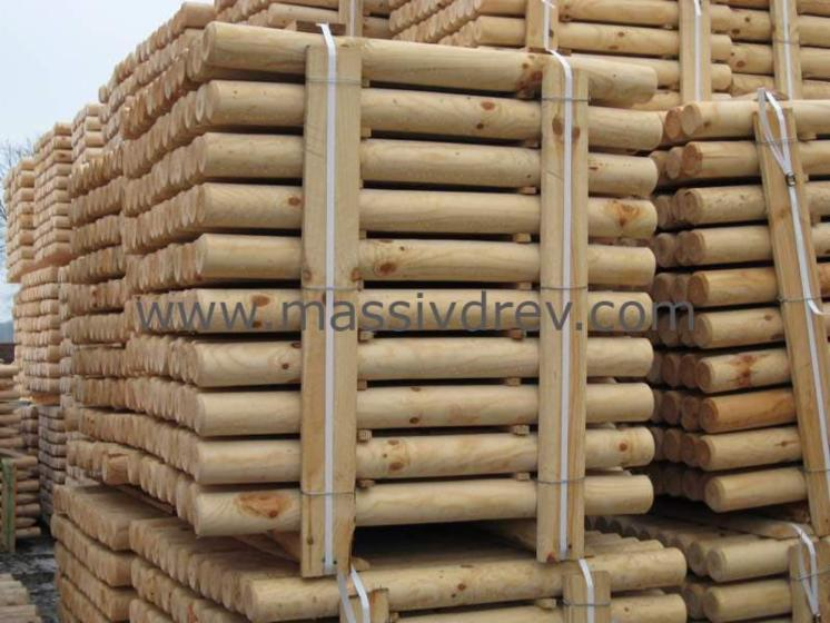 poles, Pine (Pinus sylvestris)   Redwood